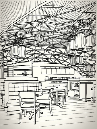 shops street: Coffee shop sketchbook