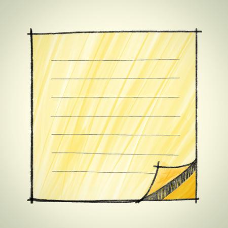 sketchbook: Note pad sketchbook style