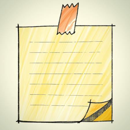 note pad: Note pad sketchbook style