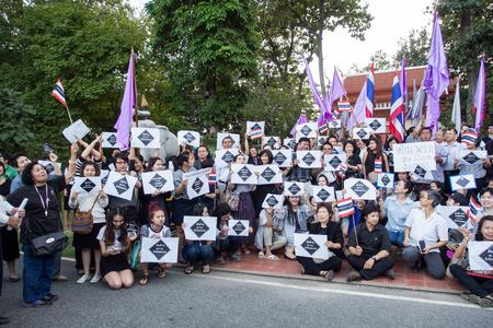 af: Chiang Mai Tayland-6 Kasım Hayır Af Bill İnsanlar izlerini taşımakta ve Chiangmai, Tayland Kasım 6,2013 Chiang Mai Üniversitesi hükümete karşı miting için dışarı çağırıyor Editöryel