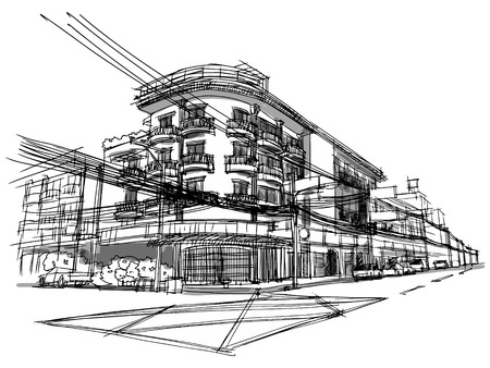 Building sketchbook Vector
