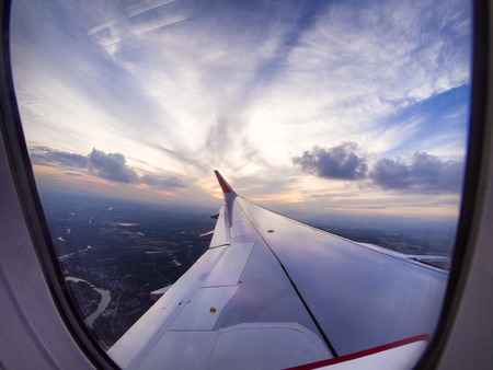 airplane engine: Airplane travel time is sunset