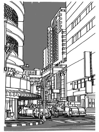 City street sketchbook  Vector