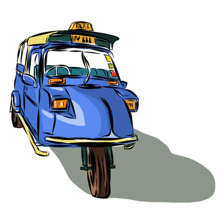 Taxi Thailand sketchbook Vector