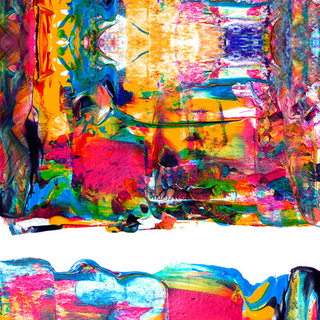 Abstract acrylic paint on white paper