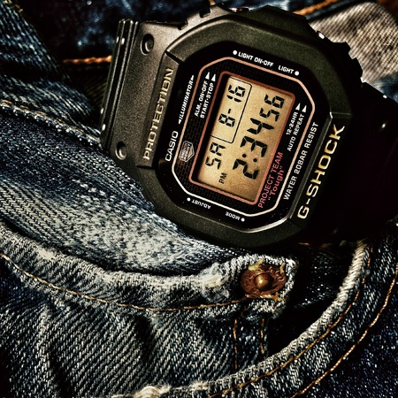 black: G Shock DW-5030C-1JF Limited edition 30th