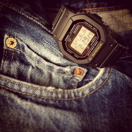 jeans: G Shock DW-5030C-1JF Limited edition 30th