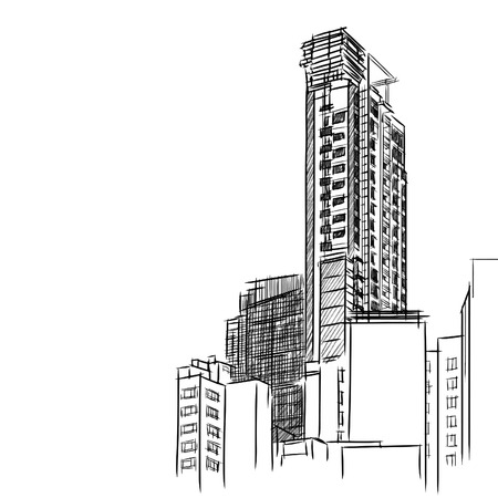 Condominium sketchbook  Vector