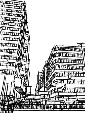 hong kong street: Hong Kong street lifestyle sketchbook  Illustration