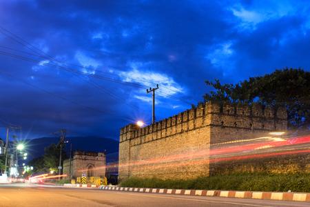 Chang Phuak gate : ancient defenders at Chiang Mai Thailand. photo