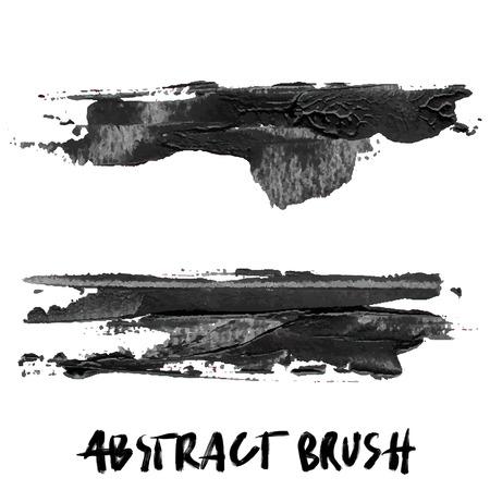 Abstract brush black acrylic Vector