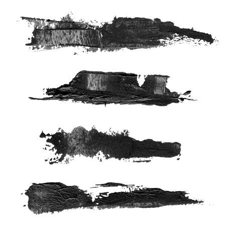 Abstract brush black acrylic photo