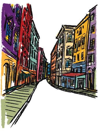 draw a sketch: Europe sketchbook Illustration