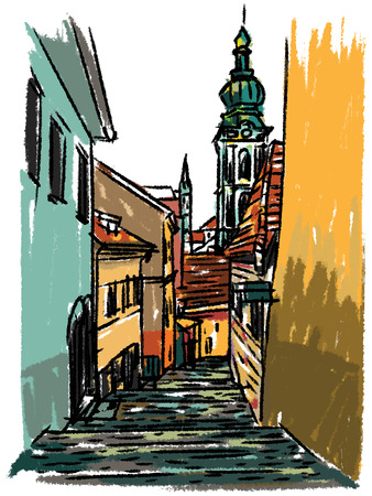 alleys: Europe sketchbook Illustration