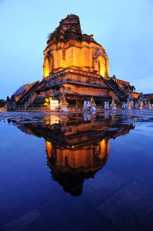 Pagoda Chedi Luang temple at Chiang Mai Thailand. photo
