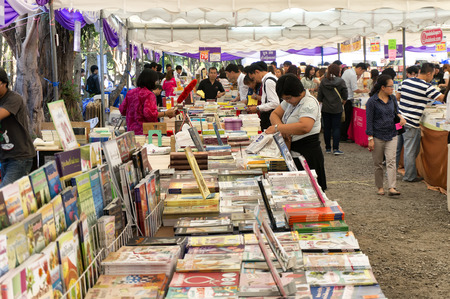 annually: CHIANG MAI, THAILAND - JANUARY 23 : CHIANG MAI UNIVERSITY Book Fair (CMU.) Students and the public attention on the purchase price has been held annually on January 23 , 2015 in Chiang Mai,Thailand. Editorial