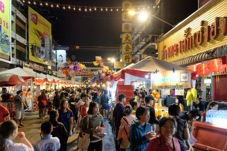 CHIANGMAI THAILAND - FEBRUARY 18 : Chinese New Year in Thailand. Popular tourist food and visit the local fruit market to the Chinese Warorot market . on February 18 , 2015 in Chiang Mai,Thailand. Editorial