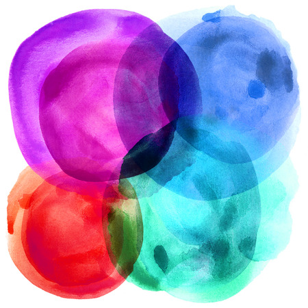Abstract balloon paint on white paper photo
