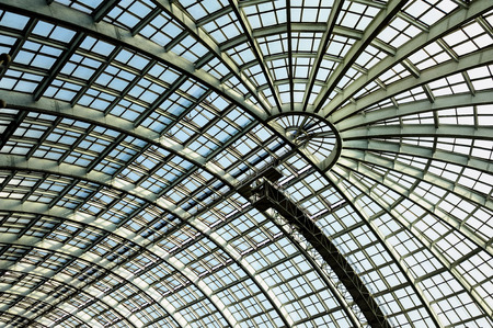 architectural studies: Skylight structure Stock Photo