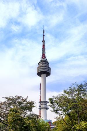 architectural lighting design: Seoul Tower at Namsan park Korea Editorial