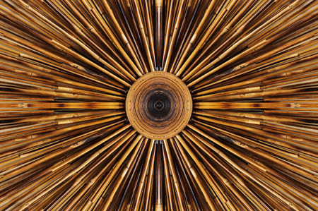 abstract zoom: Bamboo pattern decoration on wall