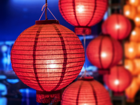 art and craft: Lanterns decoration Loi-Krathong festival Stock Photo