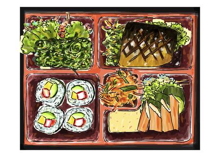 Bento food sketchbook : Food Japan style. Illustration
