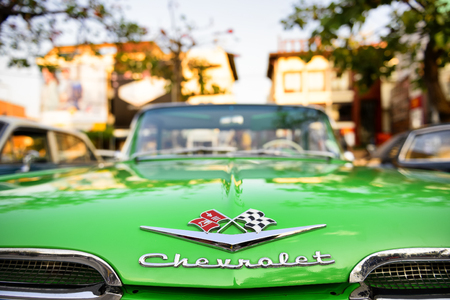 CHIANG MAI THAILAND - FEBRUARY 3, 2017 : Classic Car Meeting 2017, Thailand and foreign interested in the exhibition of antique cars. Organized at Tha-Phae gate multi-purpose yard every year. [Public]