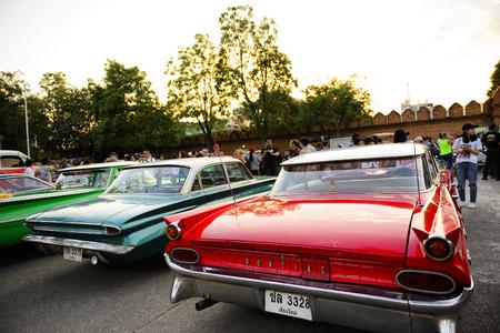 foreign car chiang mai thailand february 3 2017 classic car meeting 2017
