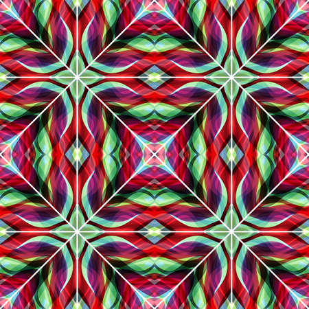 Abstract stripes seamless style  : Vintage tile colors.