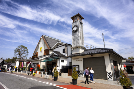 CHIBA JAPAN - MARCH 26, 2018 : Hanazakicho zone, Popular tourists walk Naritasan Omotesando road has a shop. The famous restaurant and destination is to pay homage to Naritasan Shinshoji temple. Editoriali