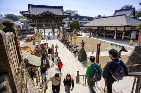 CHIBA JAPAN - MARCH 26, 2018 : Narita san Shinshoji temple, Popular tourists come here because it is an ancient temple with magnificent architecture. Have a fascinating history.