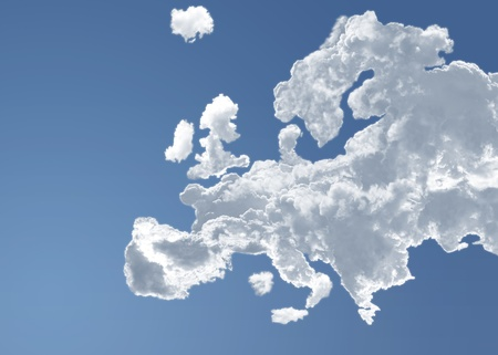 Europe in the clouds of a blue heaven photo