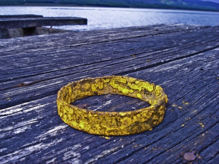 lost lake: Lost ring in a lake