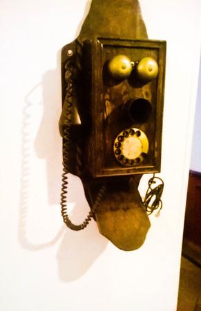 antique phone: Antique phone.