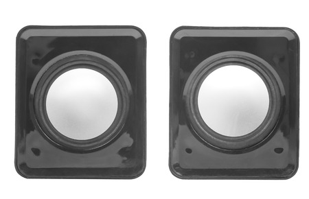 acoustic systems: loudspeakers on a white background