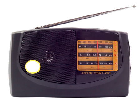 receiver: Radio the receiver musical on a white background Stock Photo