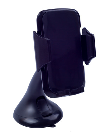 The car holder for the smartphone on a white background