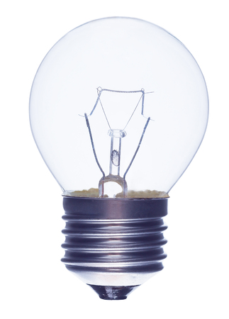 incandescence: Incandescence bulb on a white background Stock Photo