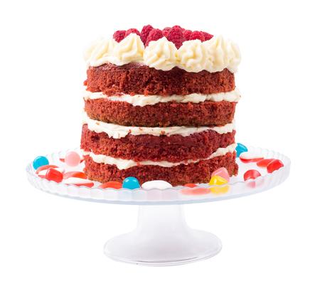Cake the red velvet isolated