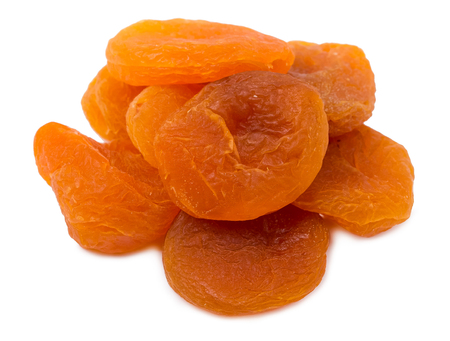 apricots: The dried apricots isolated Stock Photo