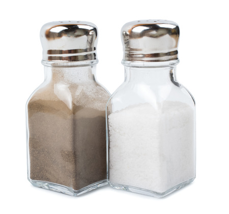 Pepper ground and salt isolated