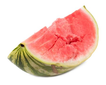 quarter: water-melon quarter isolated