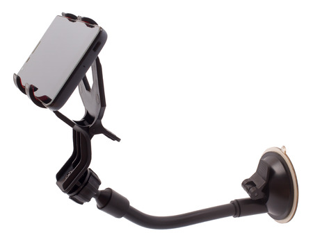 The car holder with phone isolated