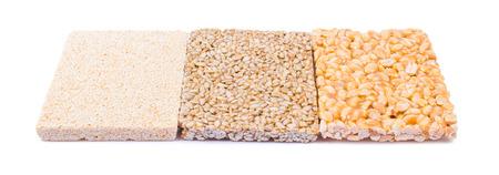 sunflower seeds: Gozinaki: sunflower seeds, the peanut, sesame Stock Photo