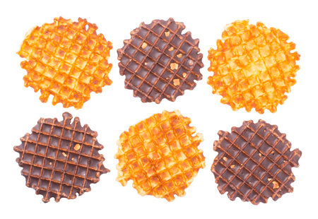 wafers: Soft wafers with chocolate isolated