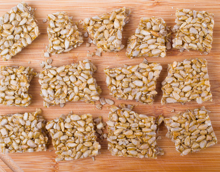 sunflower seeds: Gozinaki: sunflower seeds, isolated Stock Photo
