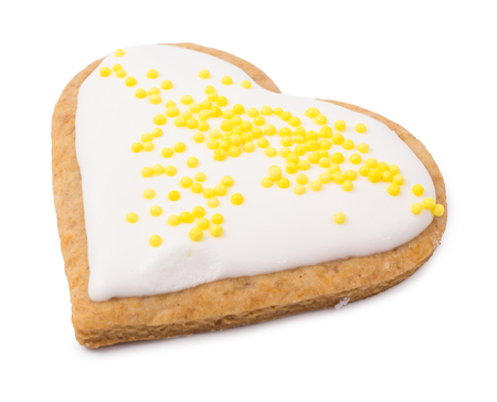 Cookies the heart isolated