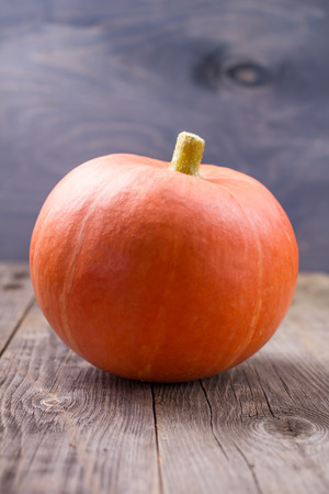 representations: Pumpkins ripe on an old table