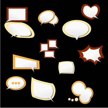 speech icon set 2 in isolate Vector